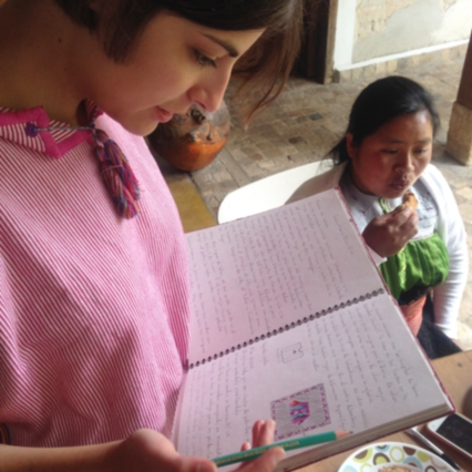 Andrea, quien más adelante nos compartirá sus notas de bitácora ;)